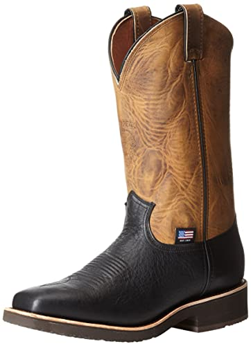 Men's Cowboy Boots For Sale Chippewa 29322 Men 12 Inch Square Toe Pull On Briar Pitstop Leather 29322 Fast Shipping