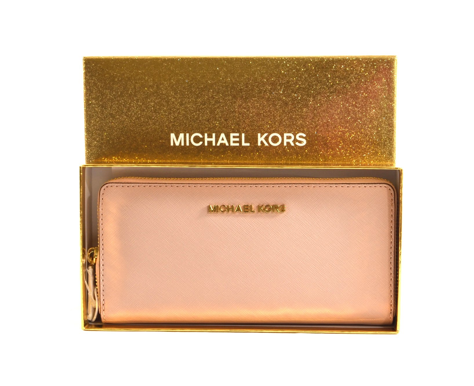 Michael Kors Ballet Saffiano Leather Boxed Zip Around Continental Travel Wallet