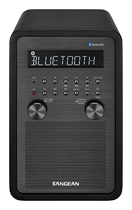Amazon.com: sangean All In One Bluetooth AM/FM Radio Reloj ...
