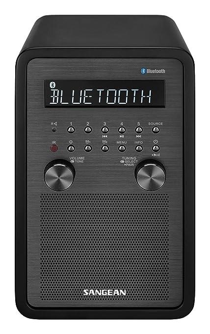 Amazon.com: sangean All In One Bluetooth AM/FM Radio Reloj ...