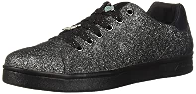 Dettagli su GEOX J824MA JR DJROCK GIRL scarpe con lacci bambina ragazza in pelle argento