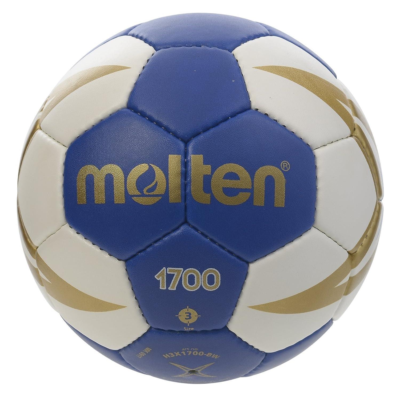 Molten HX1700 - Balón de Balonmano, categoría Senior Masculino, Blanco y Azul, Talla 2