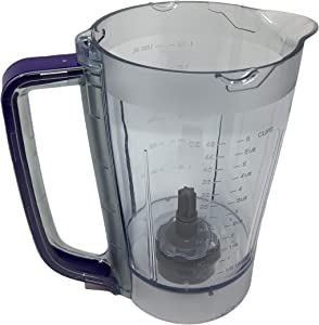 Ninja 48oz Pitcher Bowl for BL206 BL207 BL250 700w Extreme Kitchen System Pulse Blender, Blue