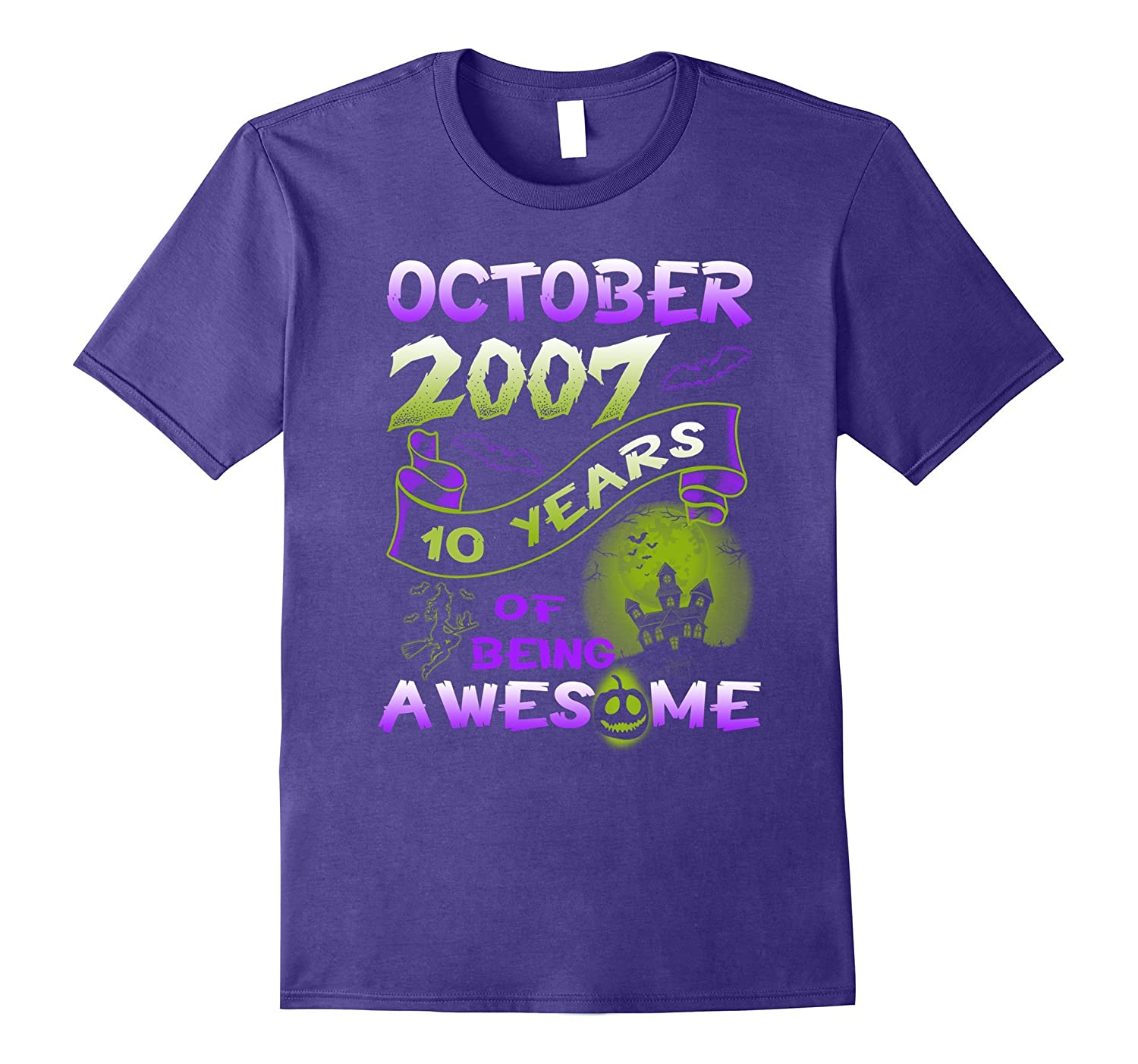 10 years of being awesome - Born in October 2007 Tshirt-T-Shirt