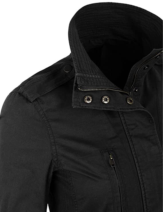 d54a3327aab KOGMO Womens Military Anorak Safari Jacket Pockets at Amazon Women's Coats  Shop