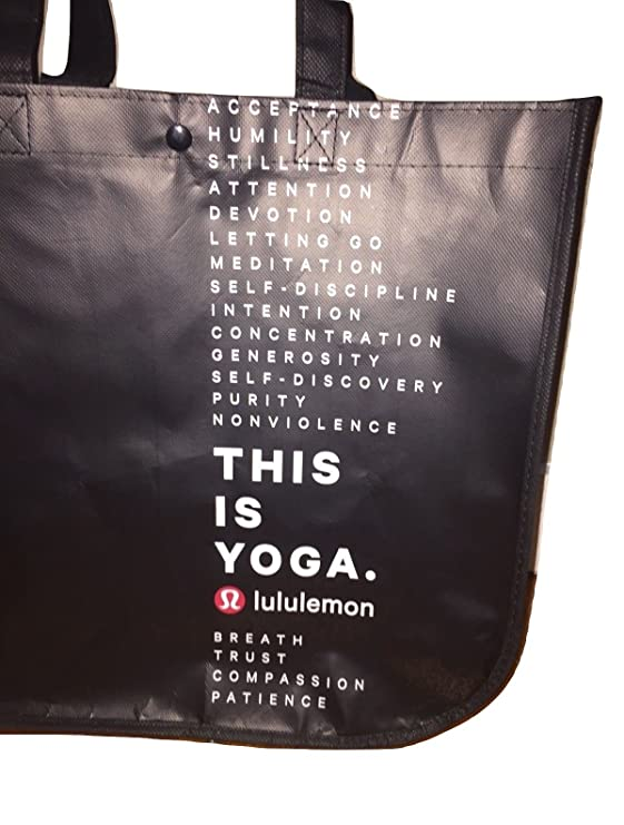 f9fe32b18d Amazon.com : Lululemon Holiday Special Edition LARGE Reusable Tote Carryall  Gym Bag : Sports & Outdoors