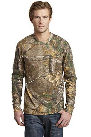 8eba2ce450572 Amazon.com: Russell Outdoors S020R Realtree Long Sleeve Explorer 100% Cotton  T-Shirt with Pocket: Clothing