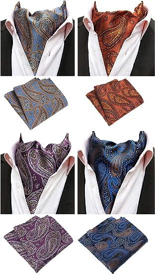 Men High Quality Paisley Cravat Scarves Ascot Wedding Party Gentlemen Neckties