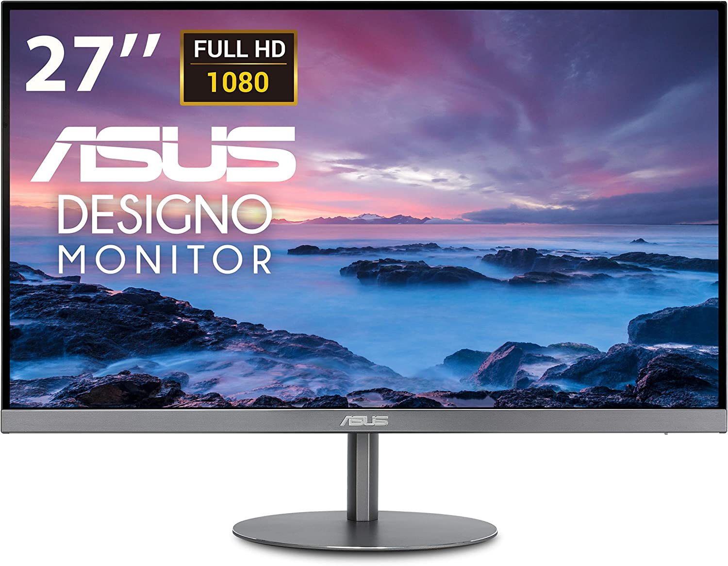 """ASUS Designo MZ279HL 27"""" 1080P IPS Eye Care Height Adjustable Monitor with HDMI, Stereo 3W Speakers"""