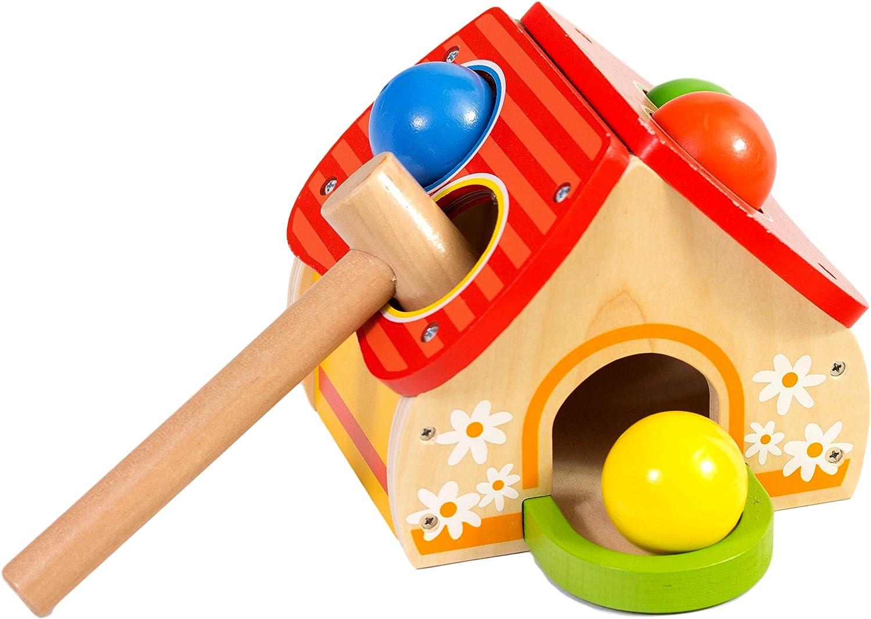 Playkidz Super Durable Roll Toy Hammer Balls Plan Toy Punch for kids