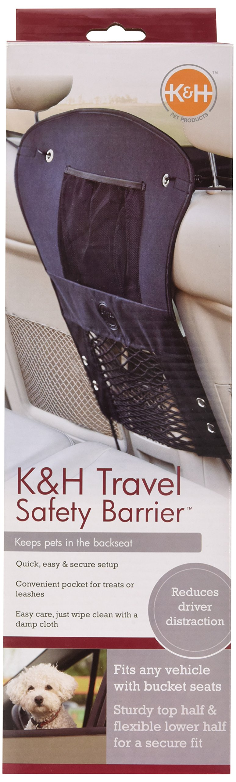 K&H Pet Products Travel Safety Barrier Black 23'' x 24'' by K&H Pet Products (Image #2)