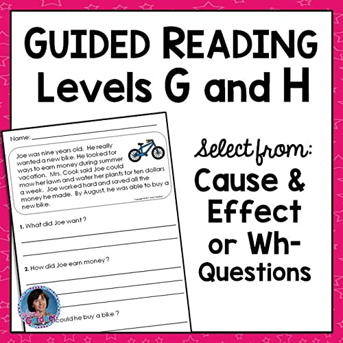 This Guided Reading Levels G And H (DRA Levels 12 And 14) Pack Includes 25  Reading Comprehension Passages With A Choice Of Cause And Effect Or Wh-  Questions. Posters For The Words Who, What, When, Where, Why And How Are  Included. These