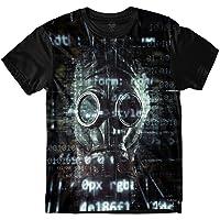 Camiseta Insane 10 Máscara de Gás Códigos Sublimada Cinza
