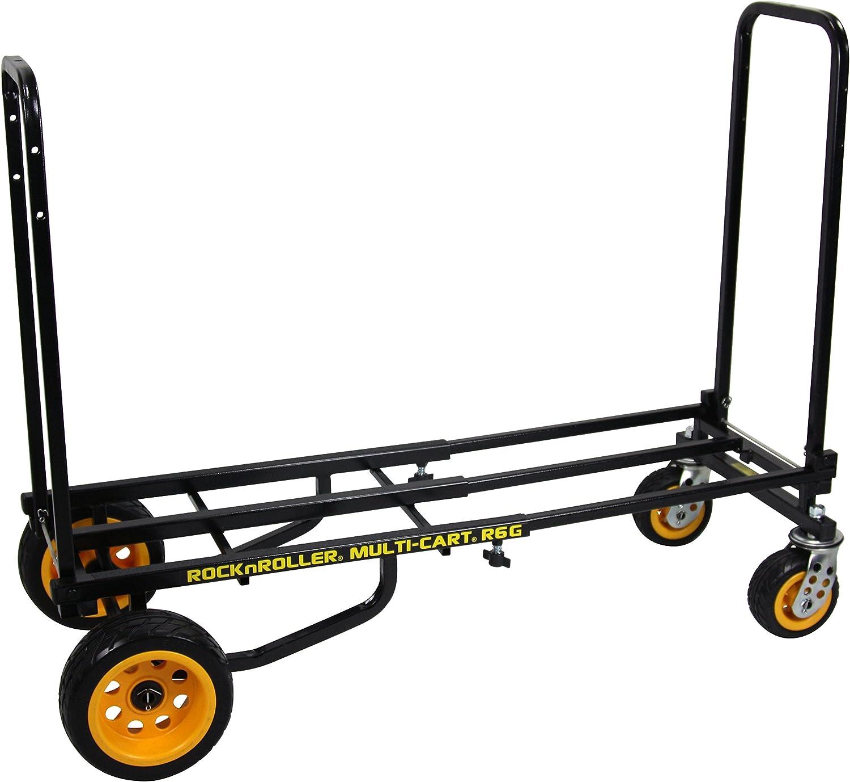 Rock-N-Roller R6G (Mini Ground Glider) 8-in-1 Folding Multi-Cart/Hand Truck/Dolly/Platform Cart/28