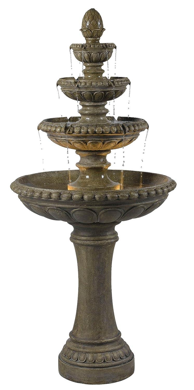 amazon com kenroy home 50231te rialto outdoor fountain tier
