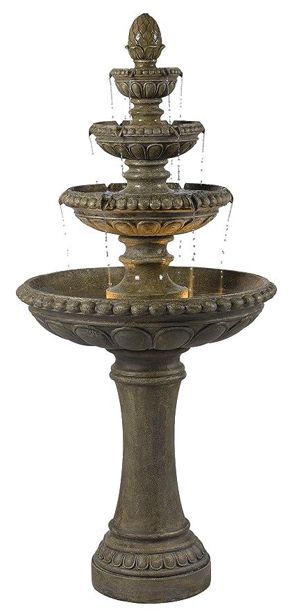 Amazon.com : Kenroy Home 50231TE Rialto Outdoor Fountain : Tier ...