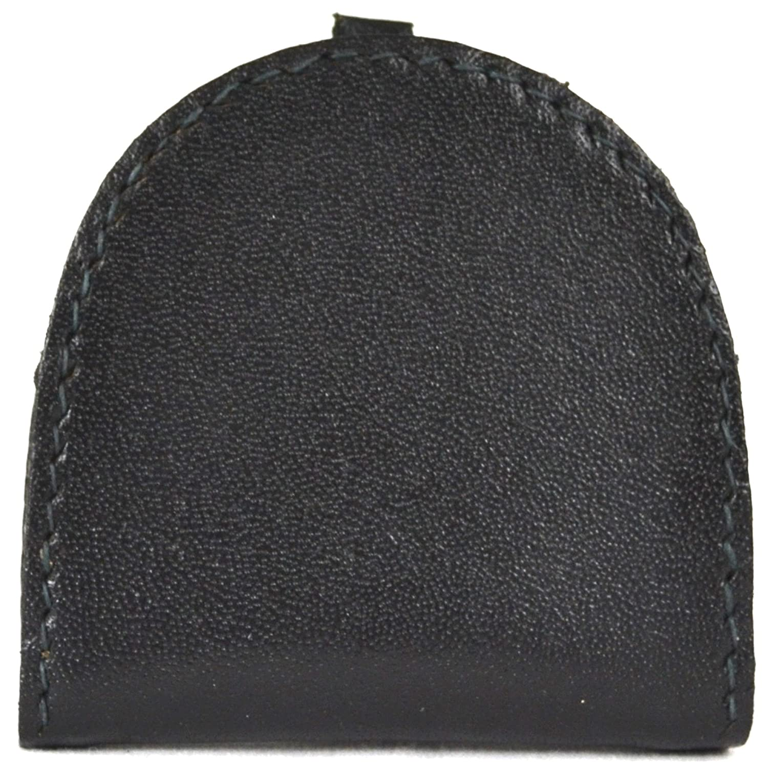 Black//Dark Brown//Mid Brown Real Leather Semi Round Money Tray Purse