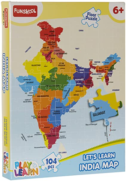 India Map Puzzle.Buy Funskool Play Learn India Map Puzzles Online At Low Prices In