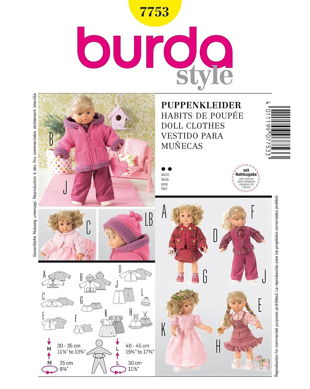 Burda Schnittmuster 7753 Puppenkleid: Amazon.de: Küche & Haushalt