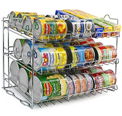 Kitchen Can Organizer Amazon sorbus can organizer rack 3 tier stackable can tracker sorbus can organizer rack 3 tier stackable can tracker pantry cabinet organizer holds workwithnaturefo