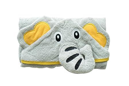 Mybrightfamily | La mejor toalla de bebé con capucha | Elefante Gris | Algodón extra suave 100% egipcio | Gran regalo para niños y niñas para la casa, ...