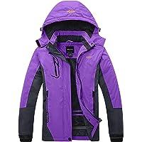 Wantdo Chaqueta de Esquí Cálida para Mujer con Forro Polar Chaqueta de Snowboard Impermeable con Capucha Abrigo de…