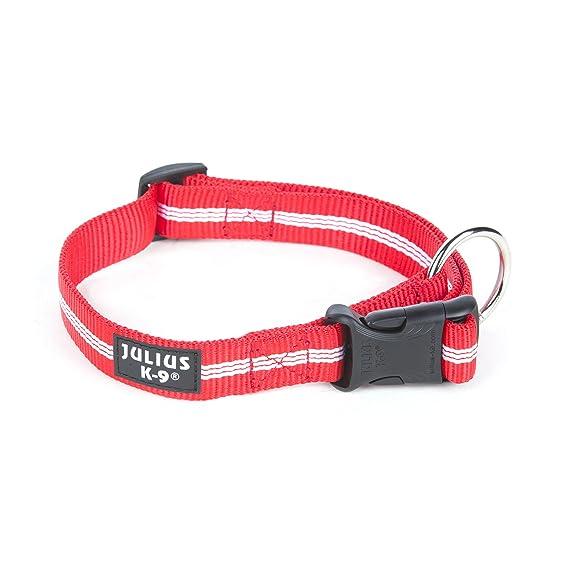TagME Collar de Perro de Cuero Personalizado,Placa de Identificaci/ón Grabada con Nombre y n/úmero de Tel/éfono,Se Adapta a Perros Extra Grandes,Rojo Coral