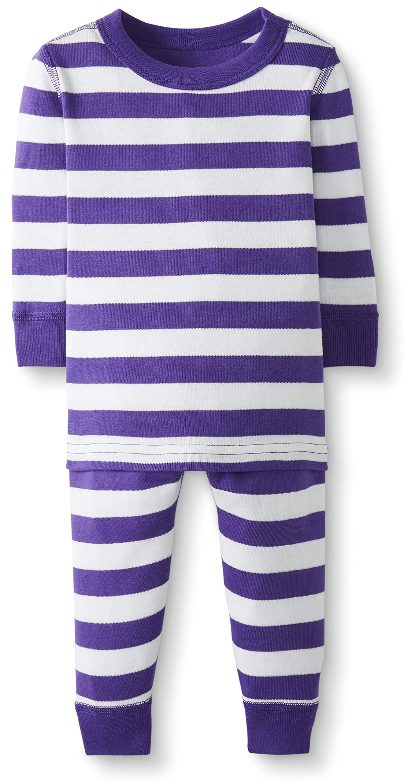 Hanna Andersson Baby/Toddler 2-Piece Organic Cotton Pajama Set Purple Hills/Hanna White-60 by Hanna Andersson
