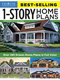 Best-Selling 1-Story Home Plans, Updated 4th Edition: Over 360 Dream-Home Plans in Full Color Craftsman, Country...