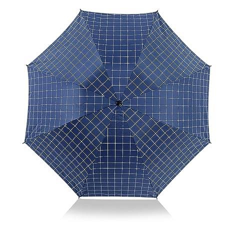 DORRISO Plegable Paraguas Mujer Sombrilla Portátil Compacto Resistente al Viento Impermeable Anti-UV Durable Mango