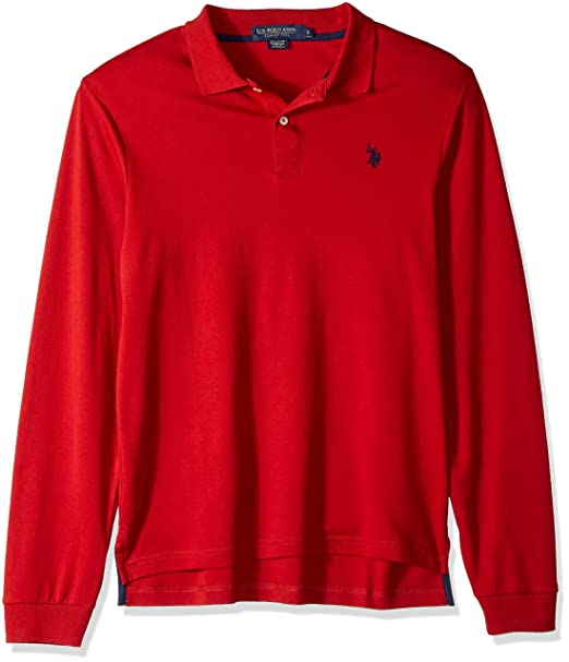 U.S. Polo Assn. Hombre 11-6735-98 Manga Corta Camisa Polo - Rojo ...