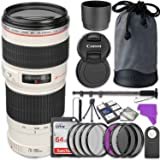 Canon EF 70-200mm f/4L USM Lens Bundle with Accessory Kit (17 items)