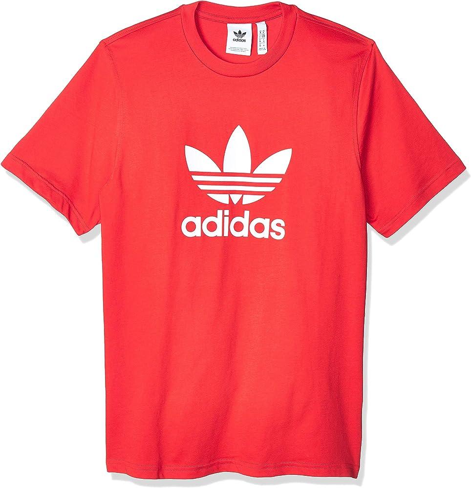 adidas Trefoil T-Shirt Camiseta de Manga Corta, Hombre, Lush Red, M: Amazon.es: Deportes y aire libre