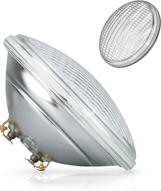 POPP®Nueva Bombilla LED Sumergible PAR56 decorativa piscina IP68 Vidrio RGB 18W 36W Blanco (Blanco Cálida 3000k, 18 Watios)
