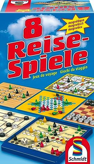 Schmidt Spiele 49102 8 juegos de viaje, magnético NUEVOS [Importado de Alemania]: Amazon.es: Electrónica