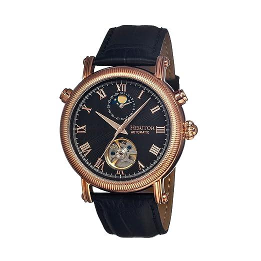 heritor automatic HERHR1606 - Reloj, Correa de Cuero Color Negro: Amazon.es: Relojes