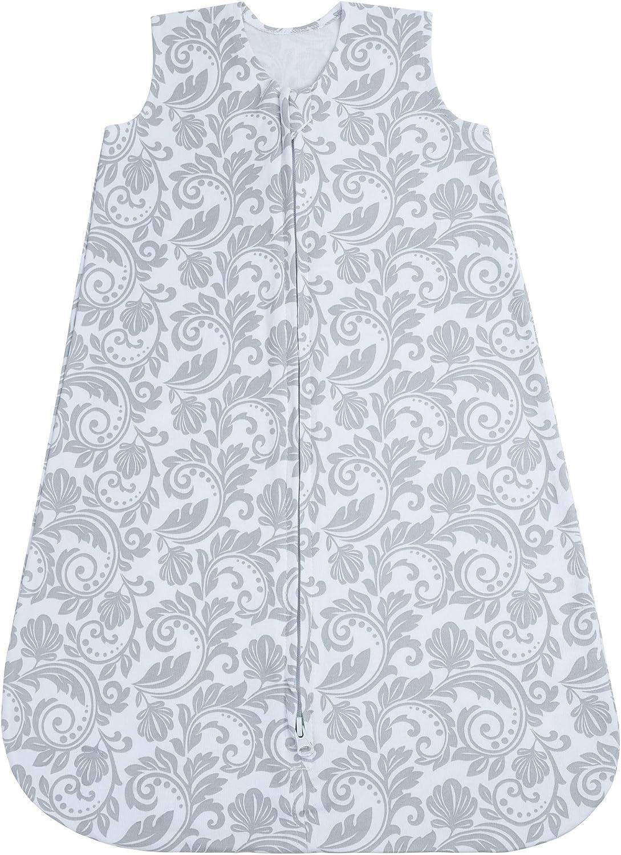 Pink//Floral Baby Sleeping Sack 0-3 Months Summer 2 Pack Wearable Blanket