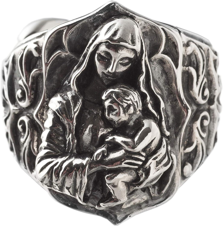 Artemis Classic Virgin and Child Ring ACR0261
