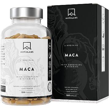 [ NOVEDAD ] Maca L - Arginina [5600 mg] Contiene Cordyceps y Extracto de
