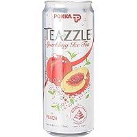 POKKA Teazzle Sparking Peach Ice Tea, 325ml (Pack of 24)