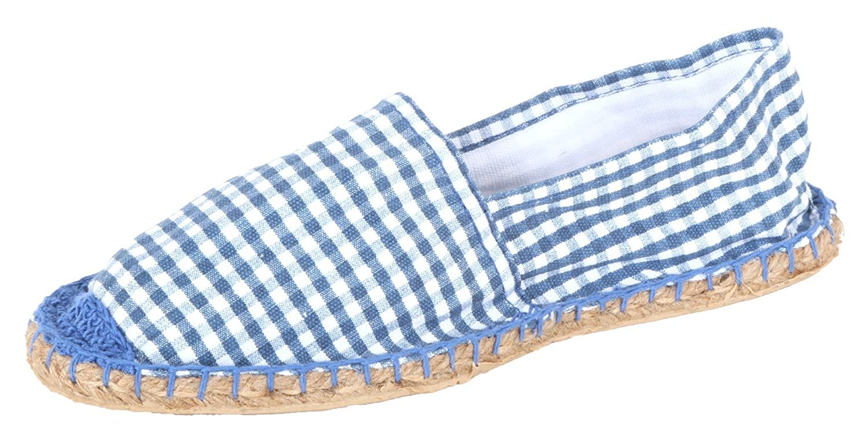 Espadrilles Sommerlatschen, Espadrilles für die Wiesn - blau, Unisex, SL1417, Größe 42