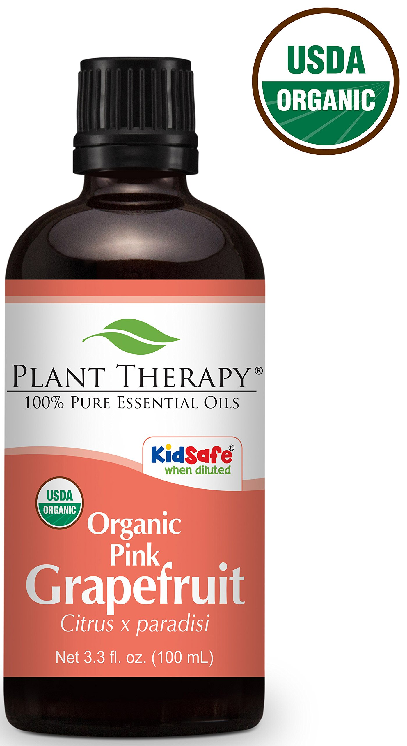 Plant Therapy Grapefruit Pink Organic Essential Oil 100 mL (3.3 oz) 100% Pure, Undiluted, Therapeutic Grade by Plant Therapy