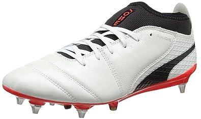 Puma One 17.2 Mx SG Puma White / Puma Black / Fiery Coral - Livraison Gratuite avec - Chaussures Football Homme