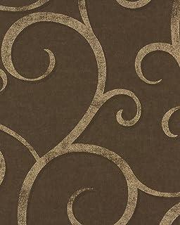 vliestapete rasch textil ranken braun gold elegant shades 223476