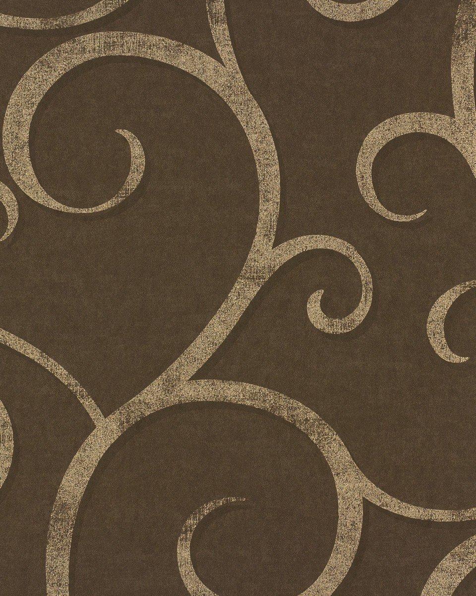 Vliestapete Rasch Textil Ranken Braun Gold Elegant Shades 223476:  Amazon.de: Baumarkt