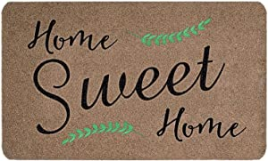 "LEJHOME Door Mats for Home Entrance - Home Sweet Home Welcome Mats for Front Door Outdoor Indoor - 27.5""x17.7"" Non-Slip Absorb Entryway Fiber Doormat"