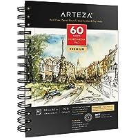 Arteza Mixed Media Schetsboek in 5.5x8.5 inches, 60 vellen, Tekenboek met zuurvrij, 180-grams papier voorzien van…