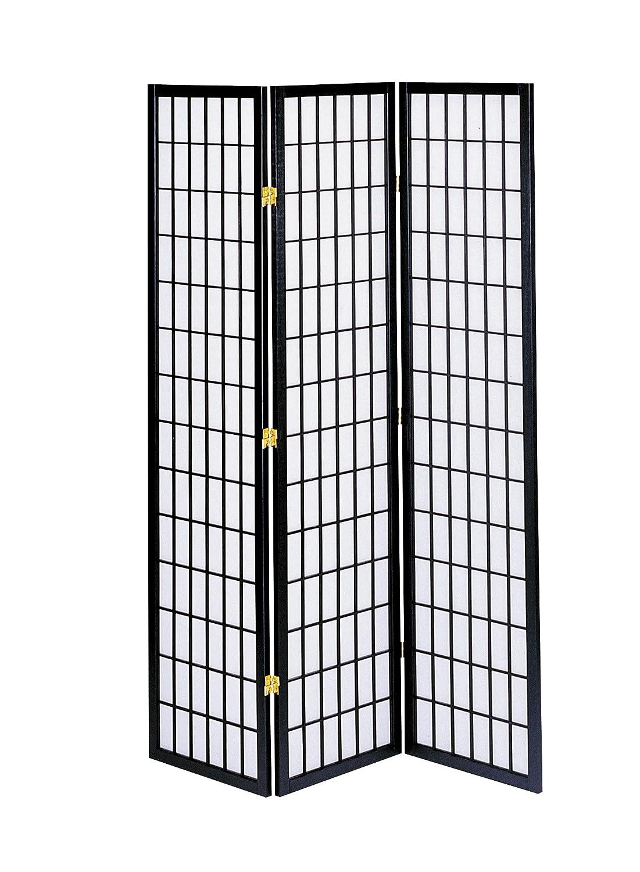 ホームパーテーション 和風衝立 3連 H1800mmタイプ ブラックJP-M180-3(BK) [並行輸入品] B00E4ATMP6