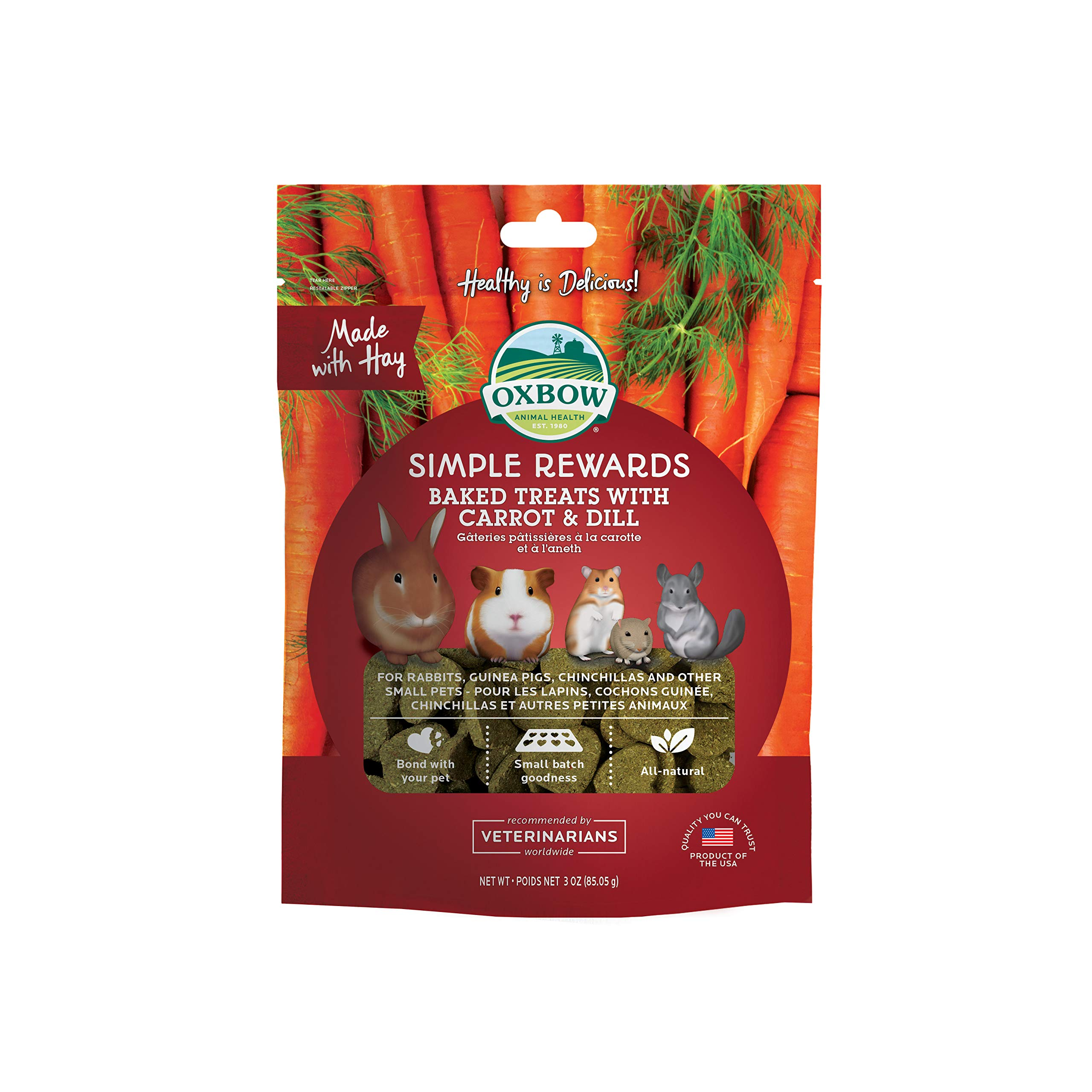 Oxbow Carrot and Dill Simple Rewards Baked Treats