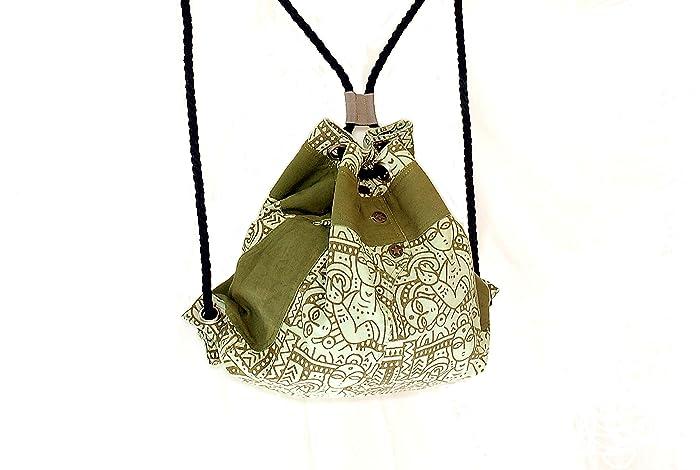 Mochila de cuerdas algodón orgánico: Amazon.es: Handmade